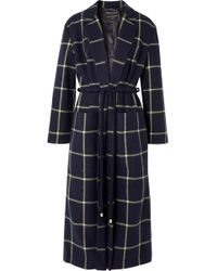 Mother Of Pearl - Anya Checked Wool-blend Coat - Lyst