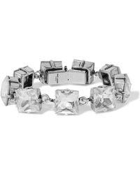 Saint Laurent - Smoking Silver-tone And Crystal Bracelet Silver One Size - Lyst