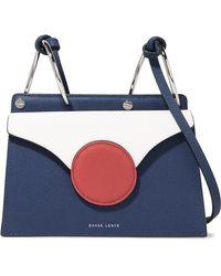 Danse Lente - Phoebe Mini Color-block Textured-leather Shoulder Bag - Lyst