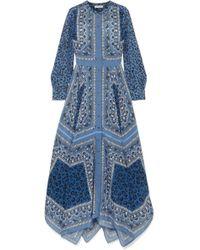 Altuzarra - Tamourine Printed Silk Crepe De Chine Maxi Dress - Lyst