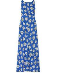 By Malene Birger Floral-print Crepe De Chine Maxi Dress