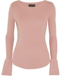 HATCH - Ribbed Cotton-blend Sweater - Lyst