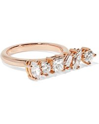 Kimberly Mcdonald - 18-karat Rose Gold Diamond Ring - Lyst