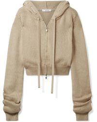 ADEAM - Grosgrain-trimmed Cotton-blend Hooded Top - Lyst