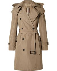 Burberry - The Amberford Hooded Shell Trench Coat - Lyst