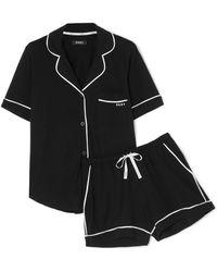 DKNY - Signature Cotton-blend Jersey Pajama Set - Lyst