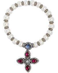 Amrapali - Pearl, Diamond, Tanzanite And Ruby Bracelet - Lyst