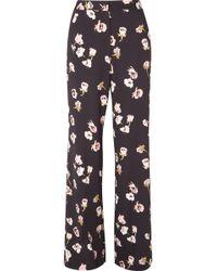 Lela Rose - Maggie Floral-print Crepe Wide-leg Trousers - Lyst