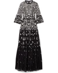 Needle & Thread - Dragonfly Garden Embellished Tulle Maxi Dress - Lyst