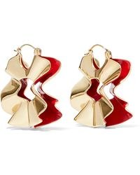 Ellery - Beton Curl Gold-plated And Enamel Earrings - Lyst