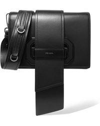 Prada - Ribbon Plexi Leather Shoulder Bag - Lyst