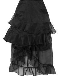Preen By Thornton Bregazzi - Louisa Asymmetric Ruffled Silk-organza Midi Skirt - Lyst