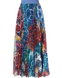 2da5922feb Alice + Olivia Bryn Printed Maxi Skirt - Lyst