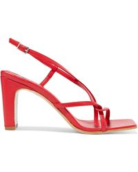 BY FAR - Carrie Leather Slingback Sandals - Lyst