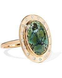Melissa Joy Manning - 14-karat Gold, Turquoise And Diamond Ring Gold 6 - Lyst