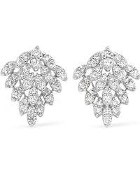 Anita Ko | Snowflake 18-karat White Gold Diamond Earrings | Lyst