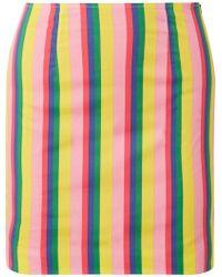 STAUD - Panda Striped Stretch-cotton Poplin Mini Skirt - Lyst