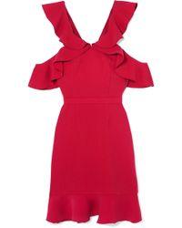 Rachel Zoe - Delia Cold-shoulder Ruffled Crepe Mini Dress - Lyst
