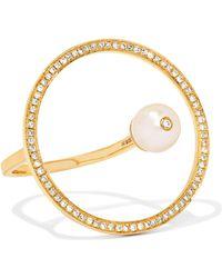 Anissa Kermiche - Reine 18-karat Gold, Diamond And Pearl Ring - Lyst