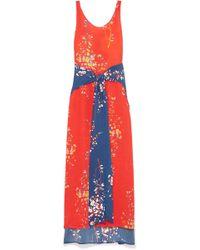 Jaline - Elizabeth Panelled Floral-print Silk Crepe De Chine Maxi Dress - Lyst