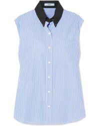 Prada - Striped Cotton-poplin Shirt - Lyst
