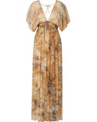 Mes Demoiselles | Arizona Open-back Gathered Crinkled-chiffon Maxi Dress | Lyst