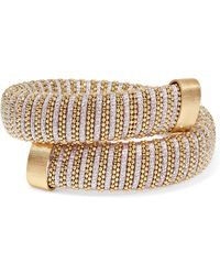Carolina Bucci - Caro Gold-plated And Lurex Bracelet Gold One Size - Lyst