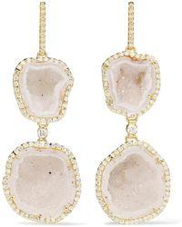 Kimberly Mcdonald - 18-karat Gold, Geode And Diamond Earrings - Lyst