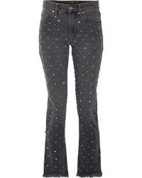 Isabel Marant - Ulano Swarovski Crystal-embellished Mid-rise Skinny Jeans - Lyst