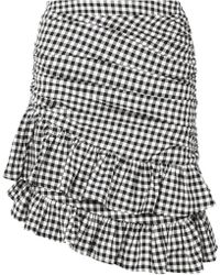 Maggie Marilyn - See You At Coco's Ruffled Gingham Cotton Mini Skirt - Lyst