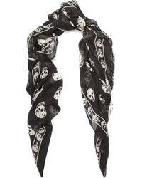 Alexander McQueen - Printed Silk-chiffon Scarf - Lyst