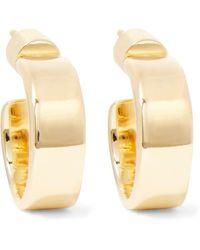 Jennifer Fisher - Flat Plate Huggie Gold-plated Hoop Earrings - Lyst