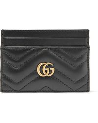 Gucci - Gg Marmont Quilted Leather Cardholder - Lyst