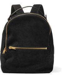 Sophie Hulme - Wilson Medium Suede And Leather Backpack - Lyst