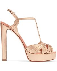 Francesco Russo - Metallic Leather Platform Sandals - Lyst