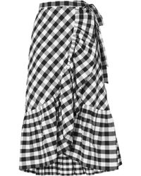 J.Crew - Glo Ruffled Gingham Cotton-poplin Wrap Skirt - Lyst