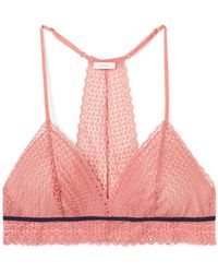 Eberjey - The Merry Me Stretch-lace And Tulle Soft-cup Triangle Bra - Lyst