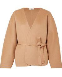 Totême  - Lunel Wool And Cashmere-blend Wrap Jacket - Lyst