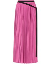MM6 by Maison Martin Margiela | Pleated Crepe Maxi Skirt | Lyst
