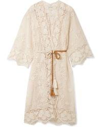 Miguelina - Mia Crocheted Cotton-lace Kaftan - Lyst