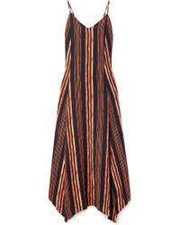 ViX - Isabela Deana Striped Voile Maxi Dress - Lyst