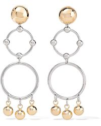 Eddie Borgo - Barbell Chandelier Gold And Silver-plated Earrings - Lyst