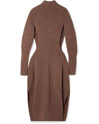 Chloé - Cutout Knitted Midi Dress - Lyst