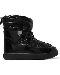 Moncler - Shell And Patent-leather Snow Boots - Lyst