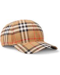 Burberry | Checked Cotton-canvas Baseball Cap | Lyst