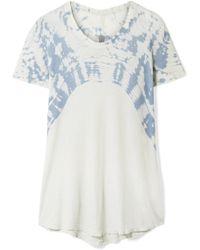 Raquel Allegra | Oversized Tie-dyed Cotton-jersey T-shirt | Lyst
