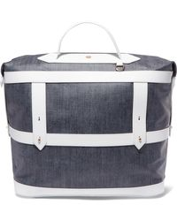 Paravel - Leather-trimmed Canvas Weekend Bag - Lyst