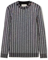 Gucci - Crystal-embellished Stretch-knit Sweater - Lyst