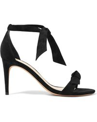 Alexandre Birman - Patty Bow-embellished Suede Sandals - Lyst