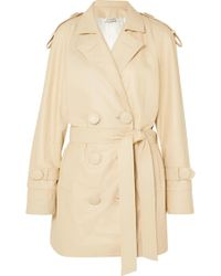 Attico - Leather Trench Coat - Lyst